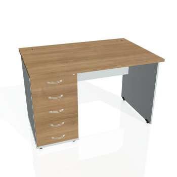 Psací stůl Hobis GATE GSK 1200 25, višeň/šedá