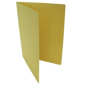 Desky papírové bez chlopní A4, žluté, 20 ks