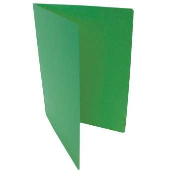 Desky papírové bez chlopní A4, zelené, 20 ks