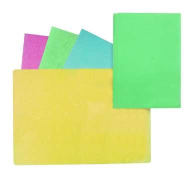 Desky papírové bez chlopní A4, mix barev, 100 ks