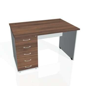 Psací stůl Hobis GATE GSK 1200 25, ořech/šedá