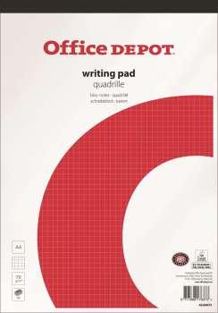 Blok poznámkový OD lepený A4, 50 listů, čtverečkovaný