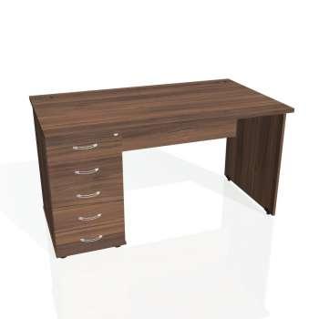 Psací stůl Hobis GATE GSK 1400 25, ořech/ořech