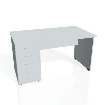 Psací stůl Hobis GATE GSK 1400 25, šedá/šedá