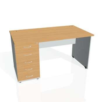 Psací stůl Hobis GATE GSK 1400 25, buk/šedá
