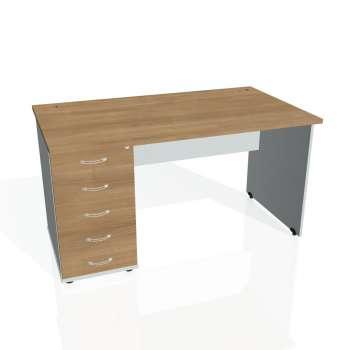 Psací stůl Hobis GATE GSK 1400 25, višeň/šedá