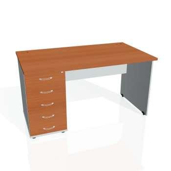 Psací stůl Hobis GATE GSK 1400 25, třešeň/šedá