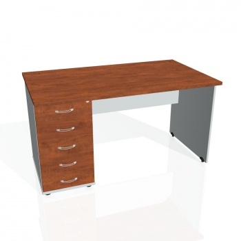 Psací stůl Hobis GATE GSK 1400 25, calvados/šedá