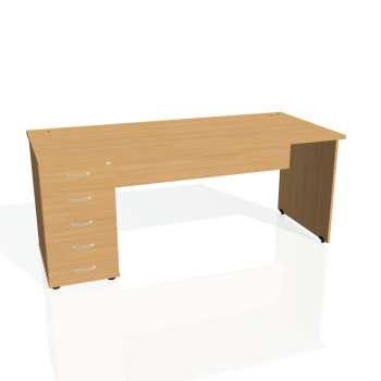 Psací stůl Hobis GATE GSK 1800 25, buk/buk