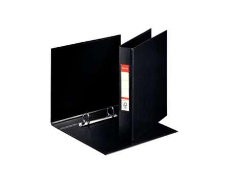 Dvoukroužkový plastový  pořadač Esselte A5, 3,5 cm, černá