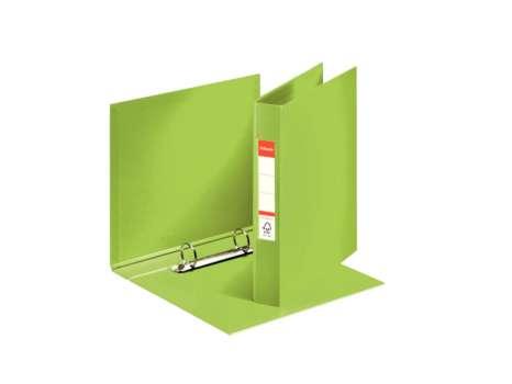 Dvoukroužkový plastový  pořadač Esselte A5, 3,5 cm, zelená