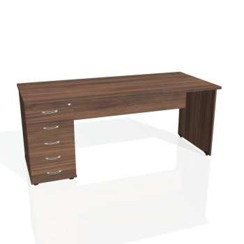 Psací stůl Hobis GATE GSK 1800 25, ořech/ořech