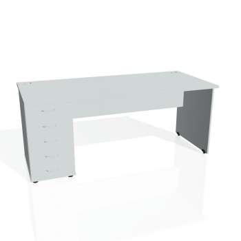 Psací stůl Hobis GATE GSK 1800 25, šedá/šedá