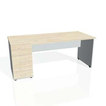 Psací stůl Hobis GATE GSK 1800 25, akát/šedá