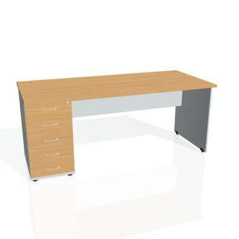 Psací stůl Hobis GATE GSK 1800 25, buk/šedá