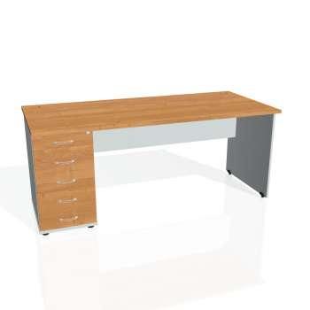 Psací stůl Hobis GATE GSK 1800 25, olše/šedá
