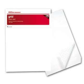 Bloky pro flipcharty Extra Office Depot, čtverečkované, 80 g, 5 x 20 listů