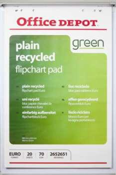 Bloky pro flipcharty Recyklované Office Depot, čisté, 70 g, 5 x 20 listů