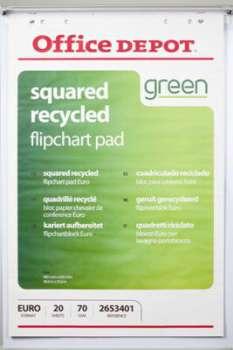 Bloky pro flipcharty Recyklované Office Depot, čtverečkované,70 g, 5 x 20 listů