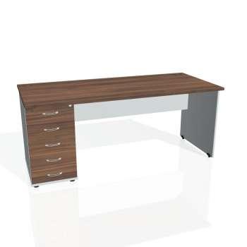 Psací stůl Hobis GATE GSK 1800 25, ořech/šedá