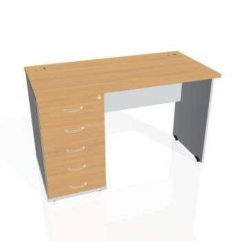 Psací stůl Hobis GATE GEK 1200 25, buk/šedá