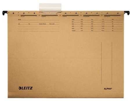 Závěsné desky papírové  LEITZ Alpha A4, bez bočnic, 25 ks