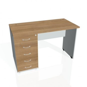 Psací stůl Hobis GATE GEK 1200 25, višeň/šedá