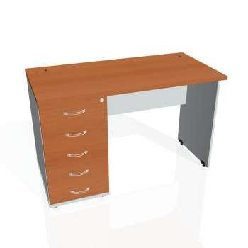 Psací stůl Hobis GATE GEK 1200 25, třešeň/šedá