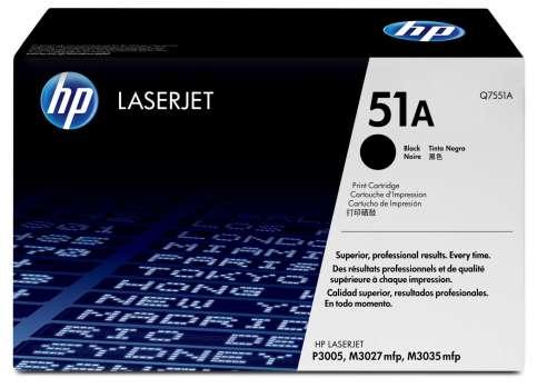 Toner HP Q7551A/51A - černá