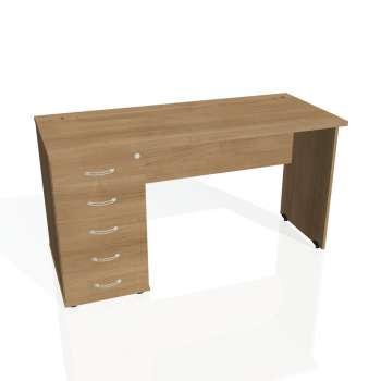 Psací stůl Hobis GATE GEK 1400 25, višeň/višeň