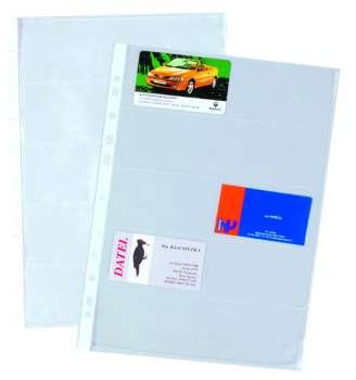 Prospektové obaly  A4 na vizitky, čiré, 10 ks