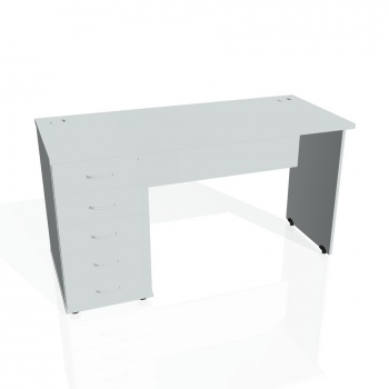 Psací stůl Hobis GATE GEK 1400 25, šedá/šedá