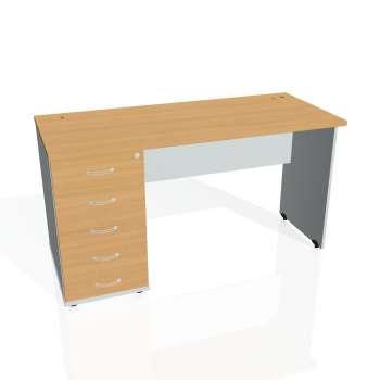 Psací stůl Hobis GATE GEK 1400 25, buk/šedá