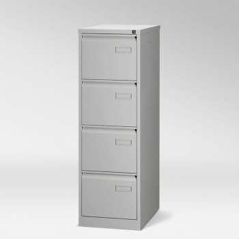 Kovová kartotéka RS PRO - šedá, čtyři zásuvky
