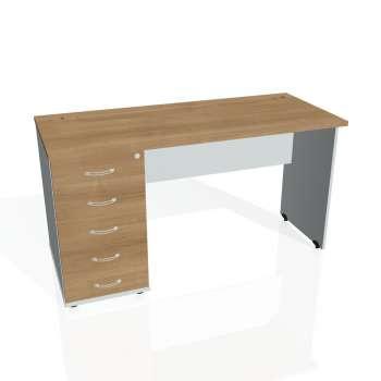 Psací stůl Hobis GATE GEK 1400 25, višeň/šedá