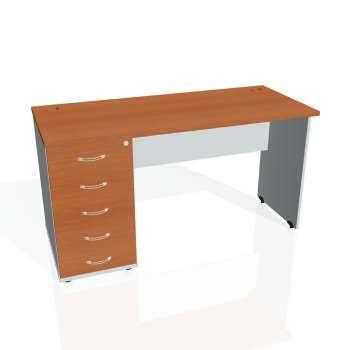 Psací stůl Hobis GATE GEK 1400 25, třešeň/šedá