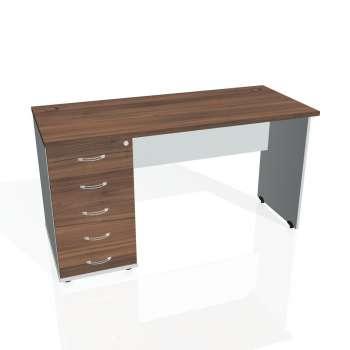 Psací stůl Hobis GATE GEK 1400 25, ořech/šedá