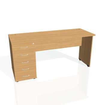 Psací stůl Hobis GATE GEK 1600 25, buk/buk