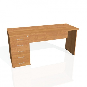 Psací stůl Hobis GATE GEK 1600 25, olše/olše