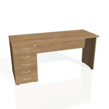 Psací stůl Hobis GATE GEK 1600 25, višeň/višeň