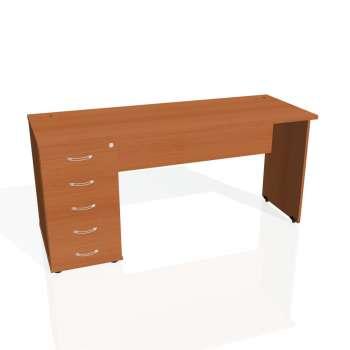 Psací stůl Hobis GATE GEK 1600 25, třešeň/třešeň