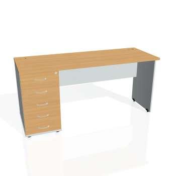 Psací stůl Hobis GATE GEK 1600 25, buk/šedá
