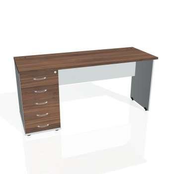 Psací stůl Hobis GATE GEK 1600 25, ořech/šedá