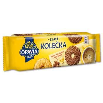 Zlaté kolečka - máslové, polomáčené v mléčné čokoládě, 146 g