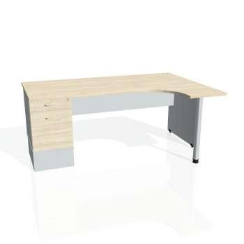 Psací stůl Hobis GATE GEK 1800 levý 22, akát/šedá