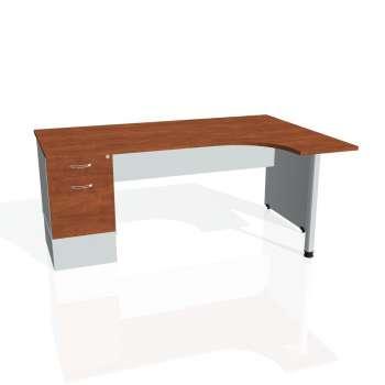 Psací stůl Hobis GATE GEK 1800 levý 22, calvados/šedá