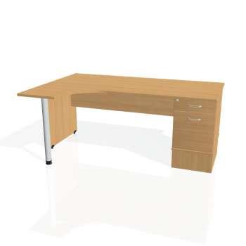 Psací stůl Hobis GATE GEK 1800 pravý 22, buk/buk