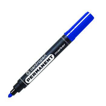 Permanentní popisovač Centropen 8566 - modrý, kulatý hrot