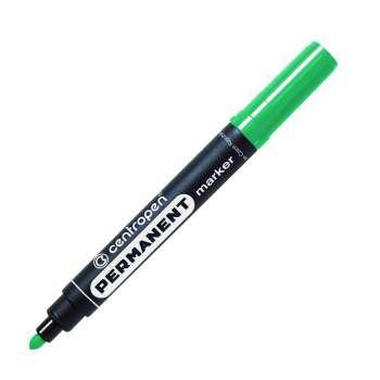 Permanentní popisovač Centropen 8566 - zelená , kulatý hrot