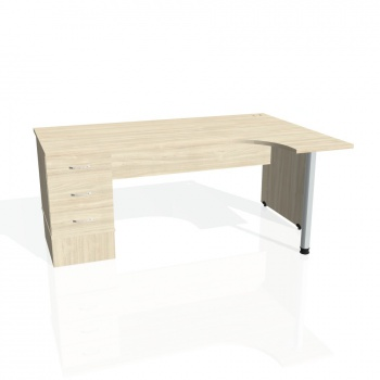 Psací stůl Hobis GATE GEK 1800 levý 23, akát/akát